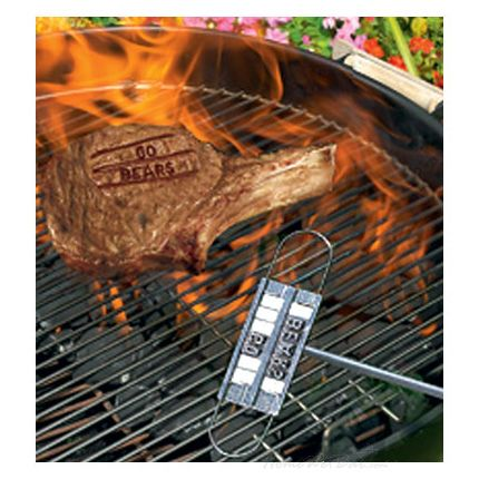 Steak Branding Iron for BBQ Gifter World