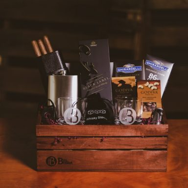 Scotch and Cigar Gift Basket for Executives