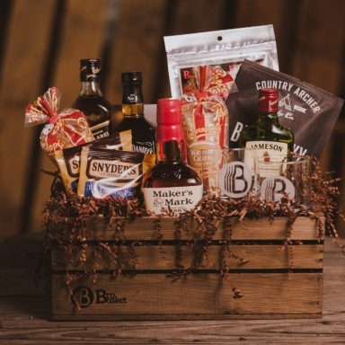 Whiskey Lover Gift Basket