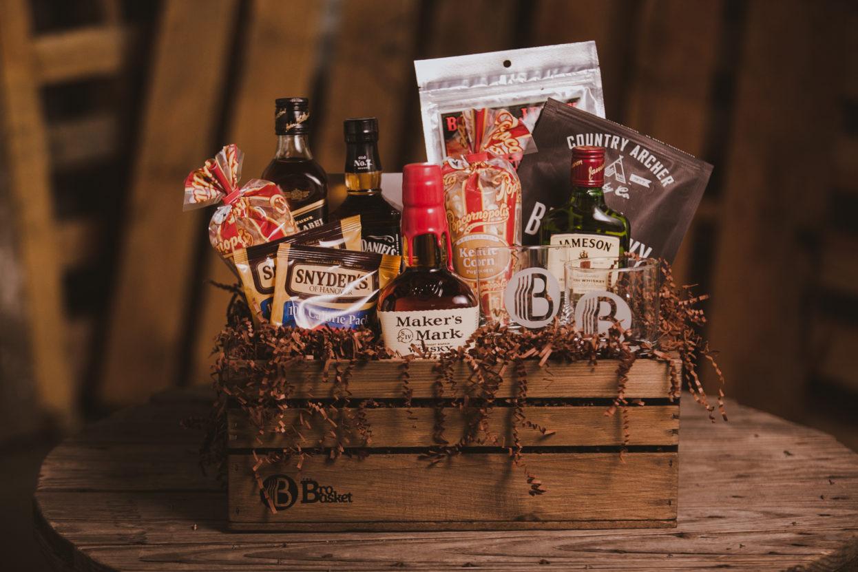 Whiskey Lover Gift Basket