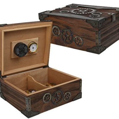 Steampunk Cigar Humidor Box Gifter World