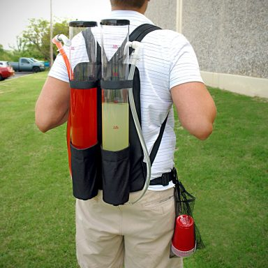 Booze Dispenser Dual Booze Backpack for Tailgaters Gifter World