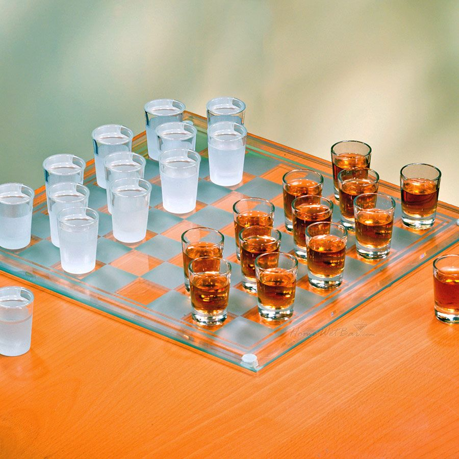 Shot Glass Checkers Drinking Game Gifter World