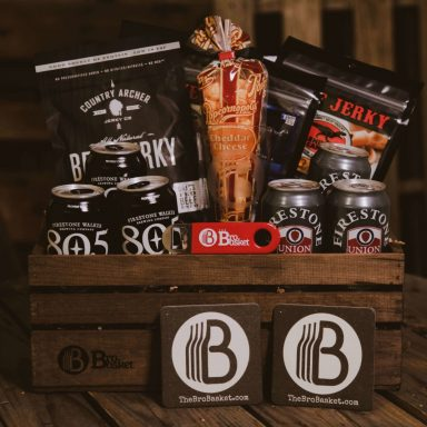 Beer and Beef Jerky Gift Basket for Men Gifter World
