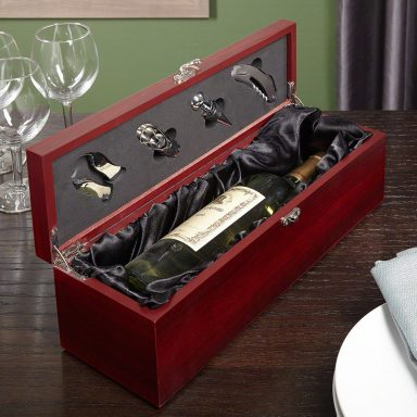 Personalized Wine Gift Box Set, Engravable customizable gifter world
