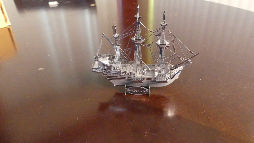 Puzzle Review Metal Earth Golden hind from Gifter World