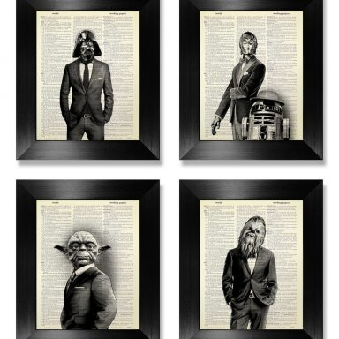 Star Wars Book Art Set of 4 from Gifter World