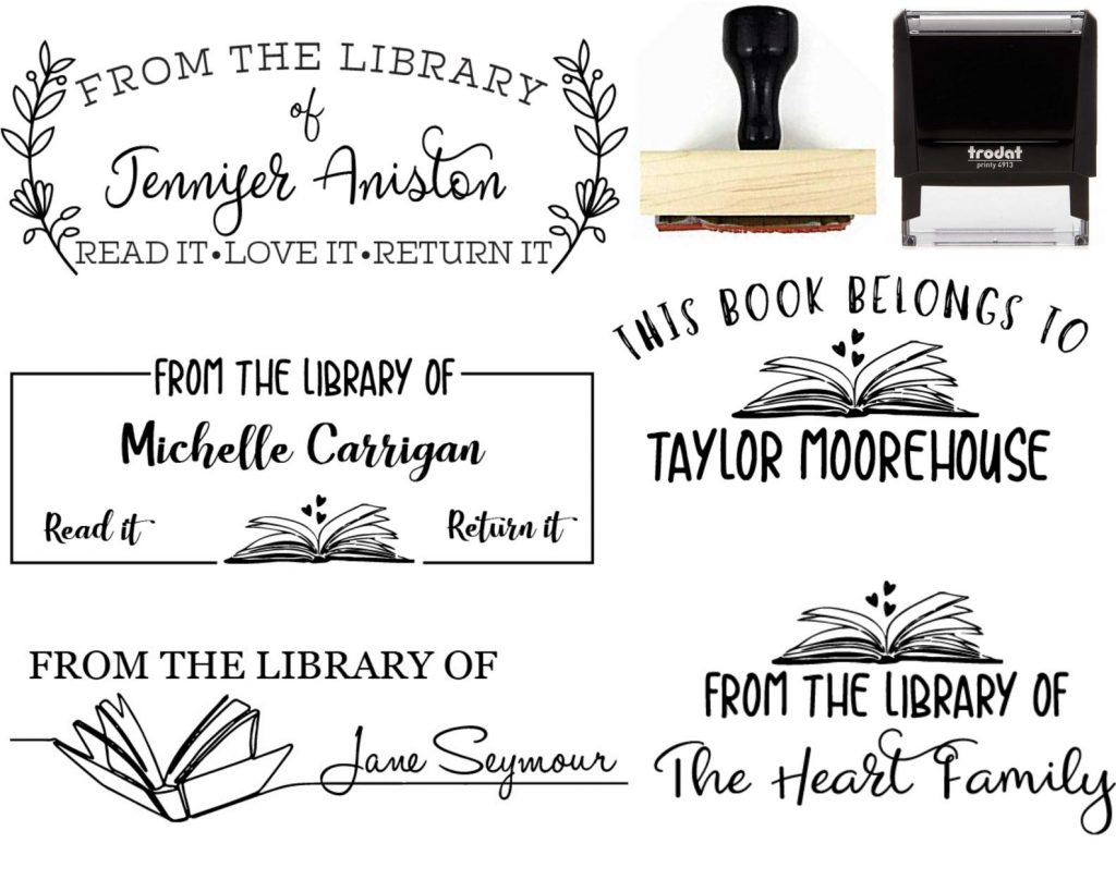 Library Stamp for Gifts for Book Lovers and Enthusiasts by Gifter World