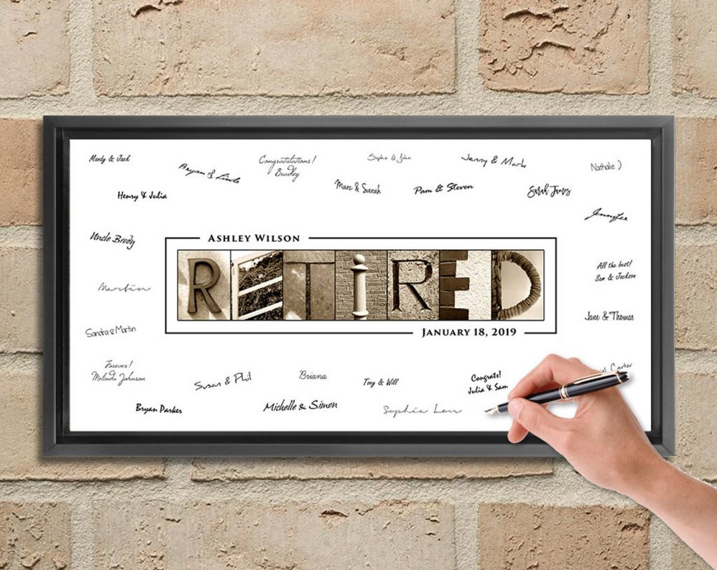 Retired Sign for Retirement Gift Ideas for Men and Women by Gifter World