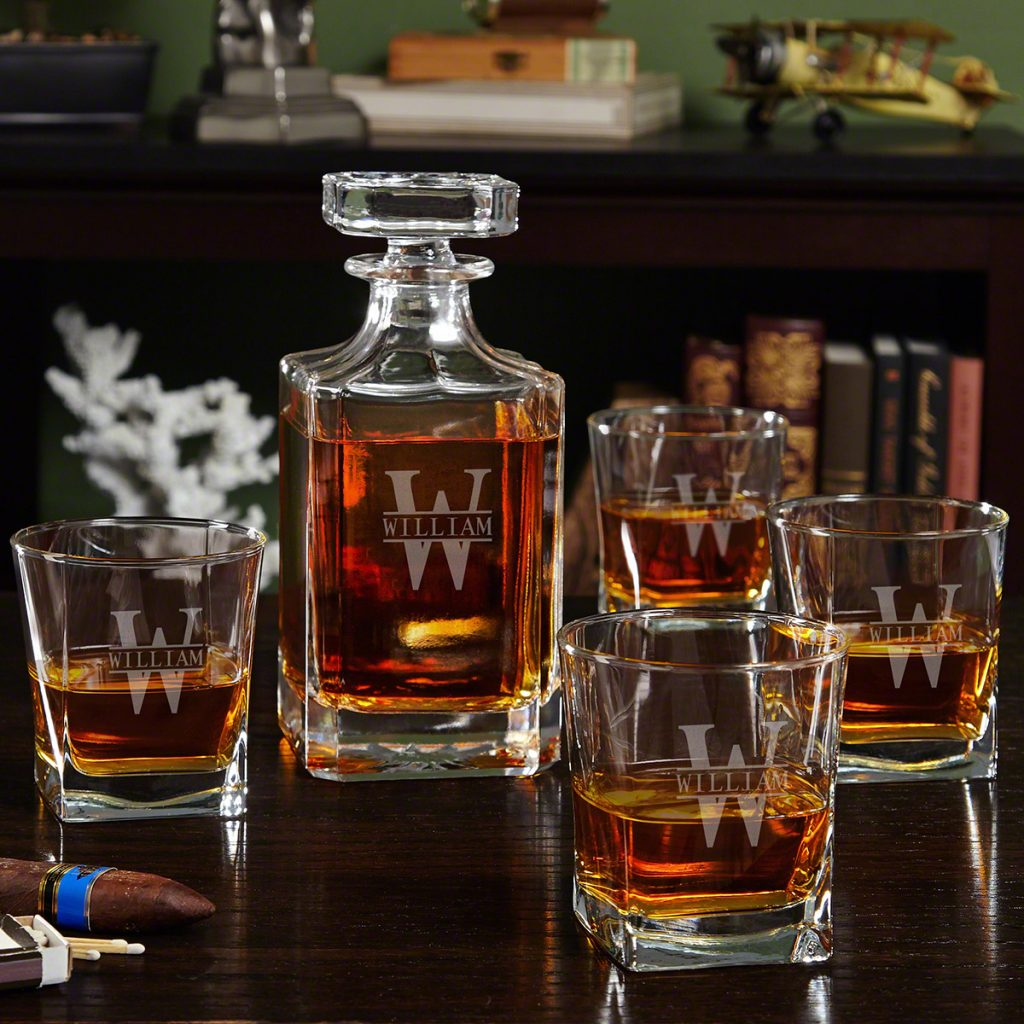 Personalized Decanter Set for Retirement Gift Ideas for Men and Women by Gifter World