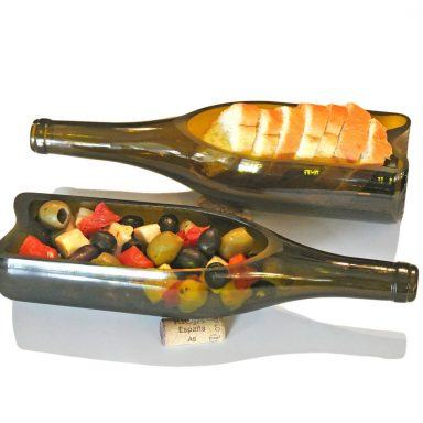 Wine Bottle Serving Tray and Bottle Planter by Gifter World