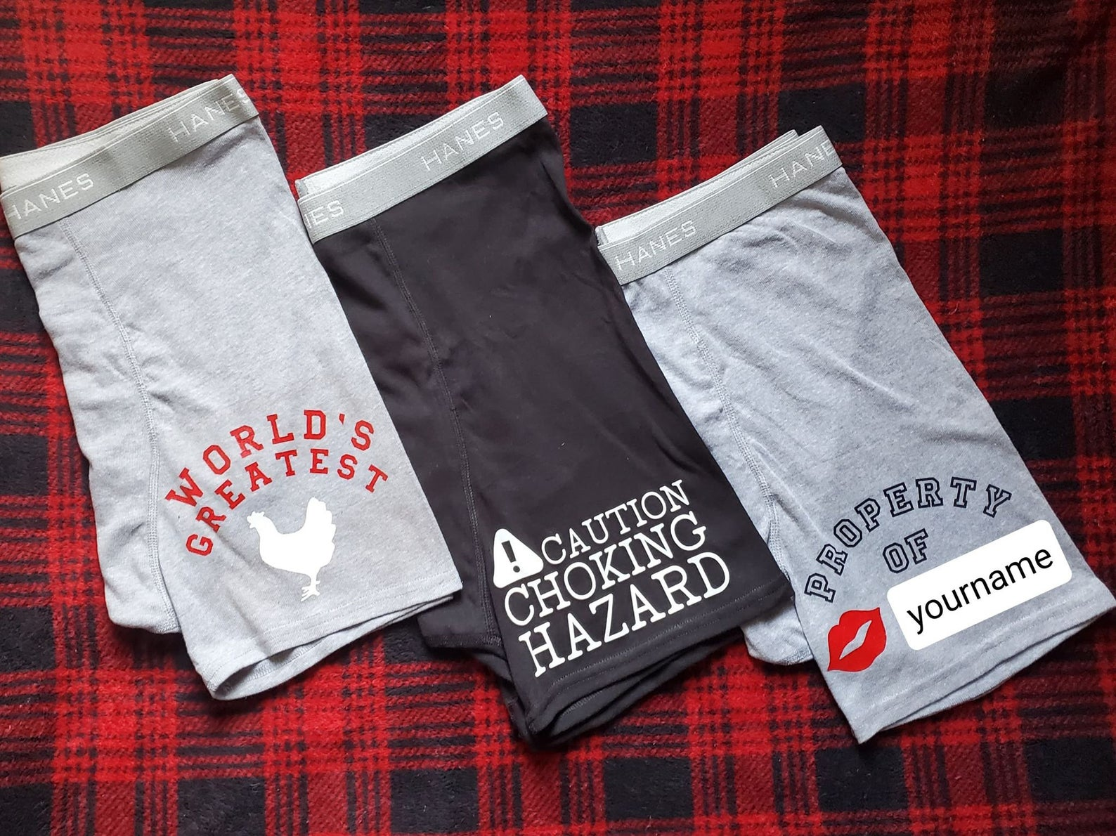 Caution Choking Hazard Underwear for Men by Gifter World