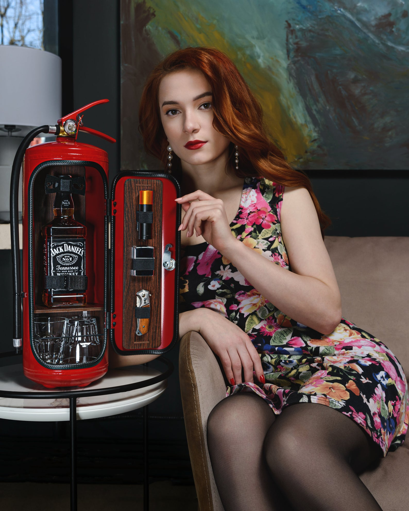 Fire Extinguisher Mini Bar for Firefighters by Gifter World