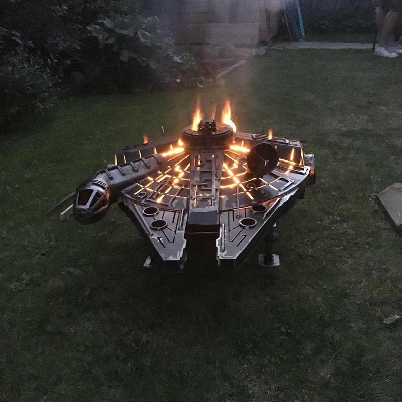 Star Wars Fire Pit Millennium Falcon Starship Wood Burner by Gifter World