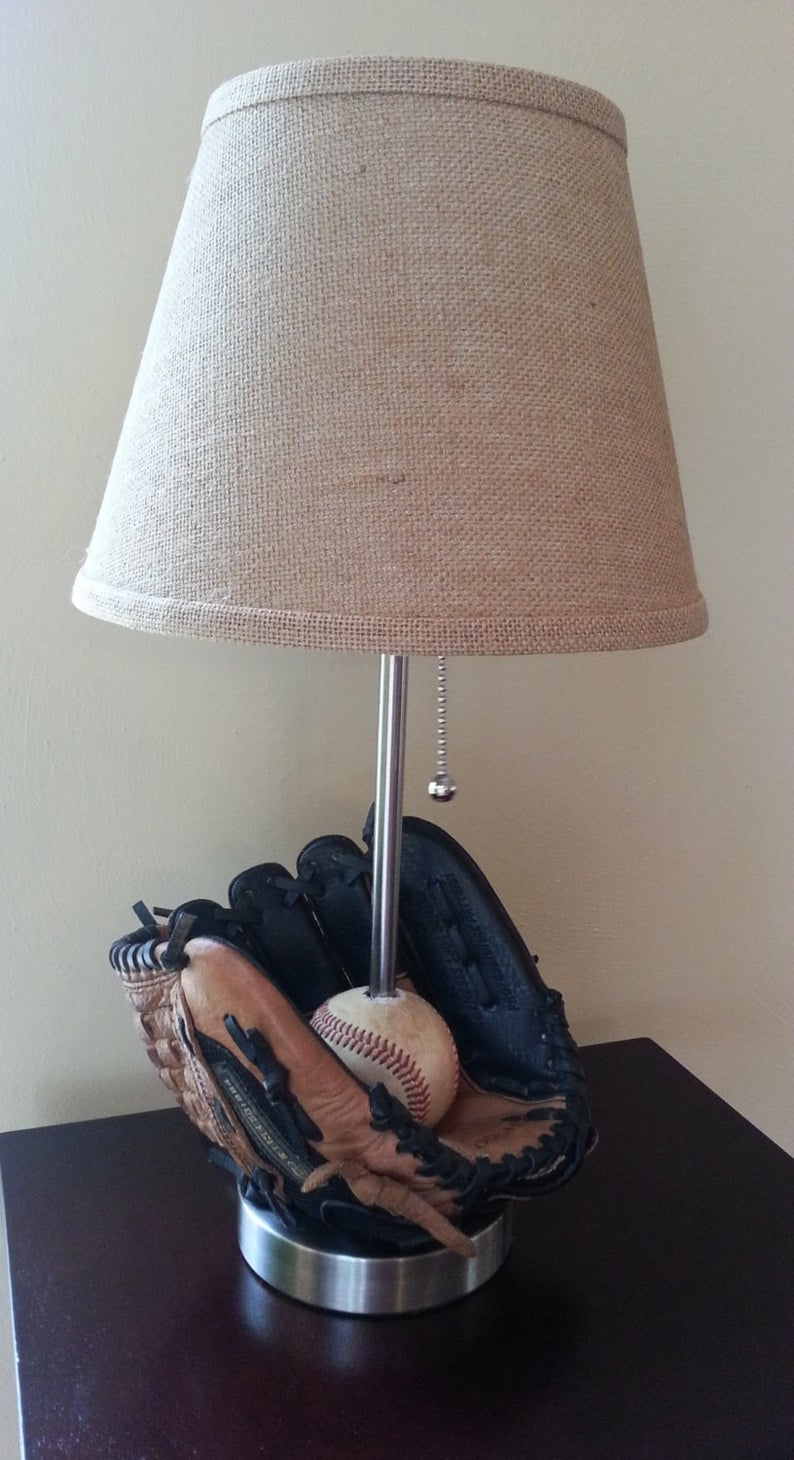 Baseball Lamp with Ball and Glove by Gifter World