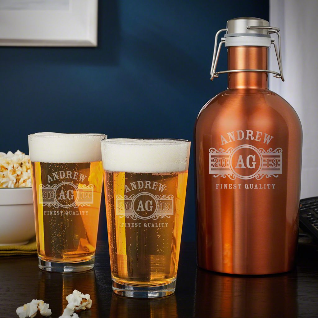 Engraved Beer Growler Unique Gifts for Beer Lovers by Gifter World