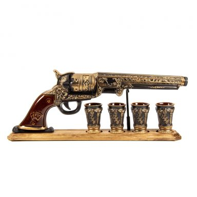 Gun Decanter for Military Enthusiast for Whiskey, Gin, Scotch, Vodka - By Gifter World