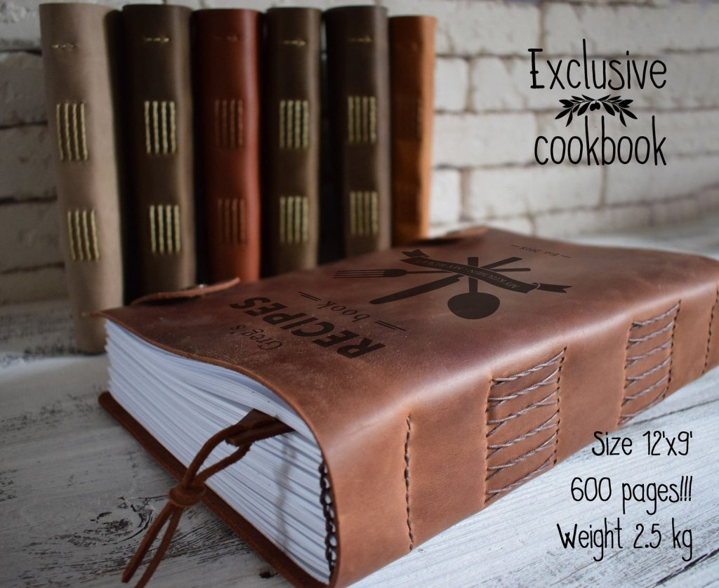 Leather Cookbook and Unique Gifts for Chefs and Foodies by Gifter World