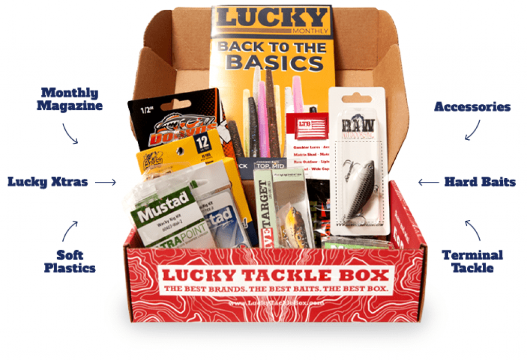 Lucky Tackle Box Subscription for Fishermen and Unique Gifts for Campers, Hikers, Survivalists, and Outdoorsy People by Gifter World