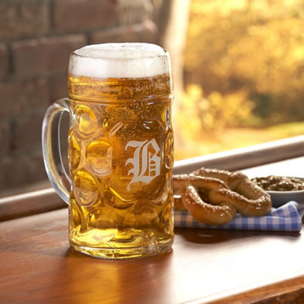Monogrammed Beer Stein for Unique Gift Ideas for Beer Lovers by Gifter World