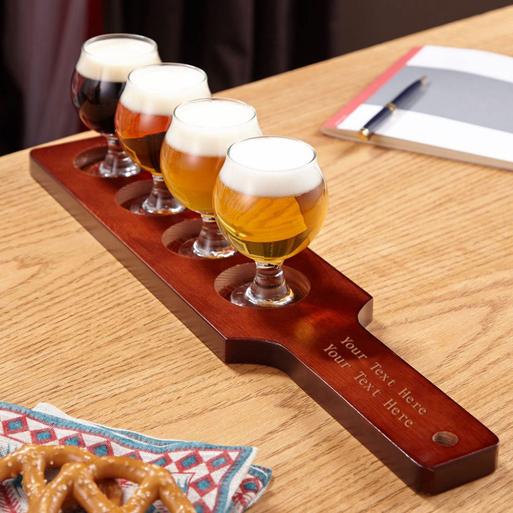 Personalized Beer Flight Set for Unique  Gift Ideas for Beer Lovers