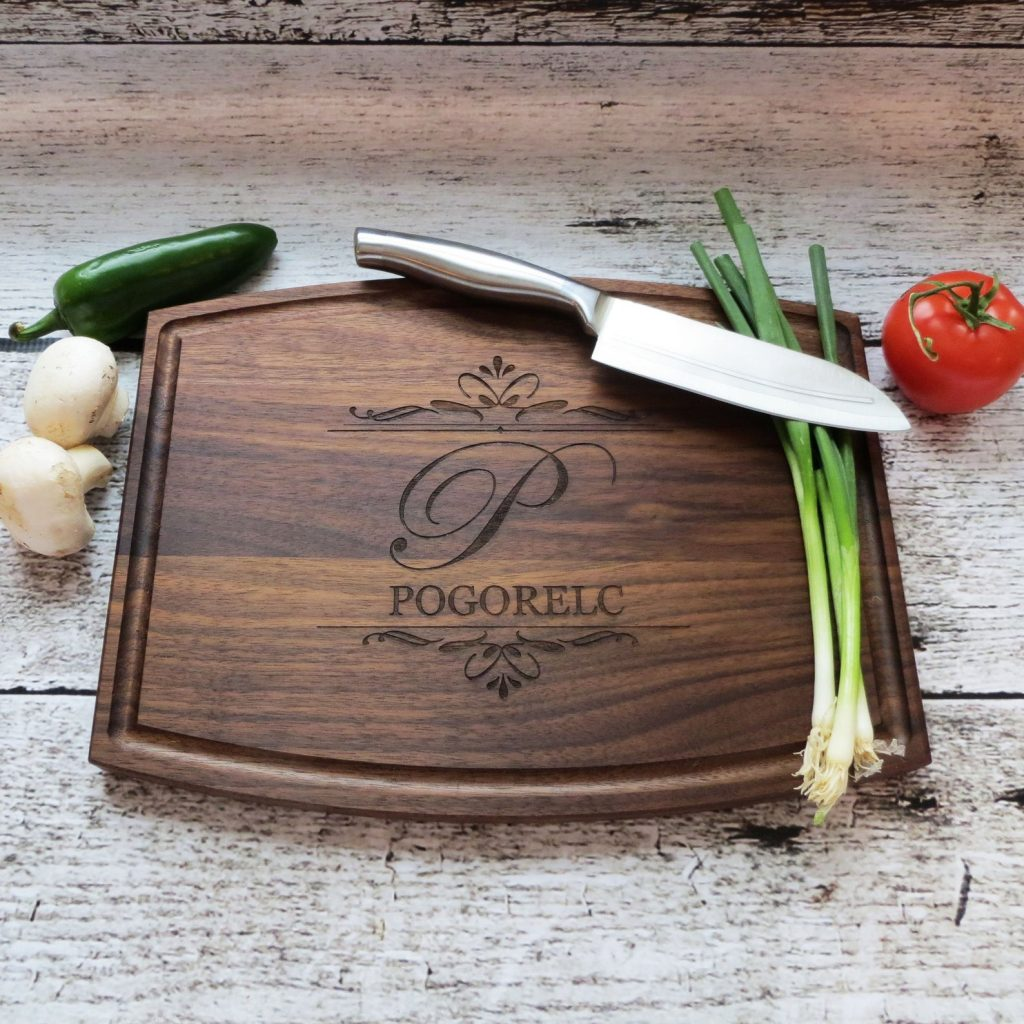 Personalized Cutting Board for Personalized Gifts for Chefs and Foodies