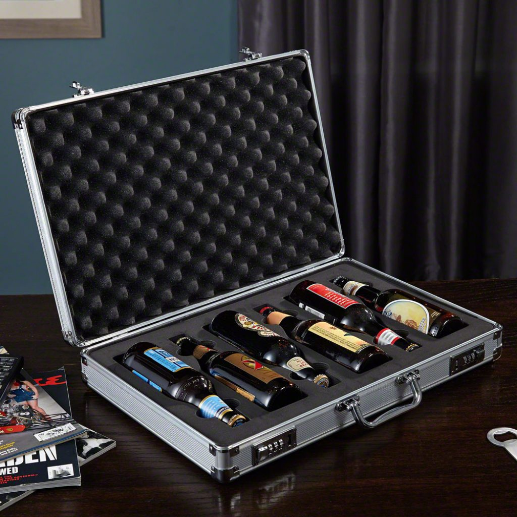 Secret Agent Beer Briefcase Unique Gifts for Beer Drinkers by Gifter World