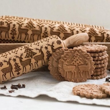 Christmas Rolling Pin and Halloween Rolling Pin by Gifter World