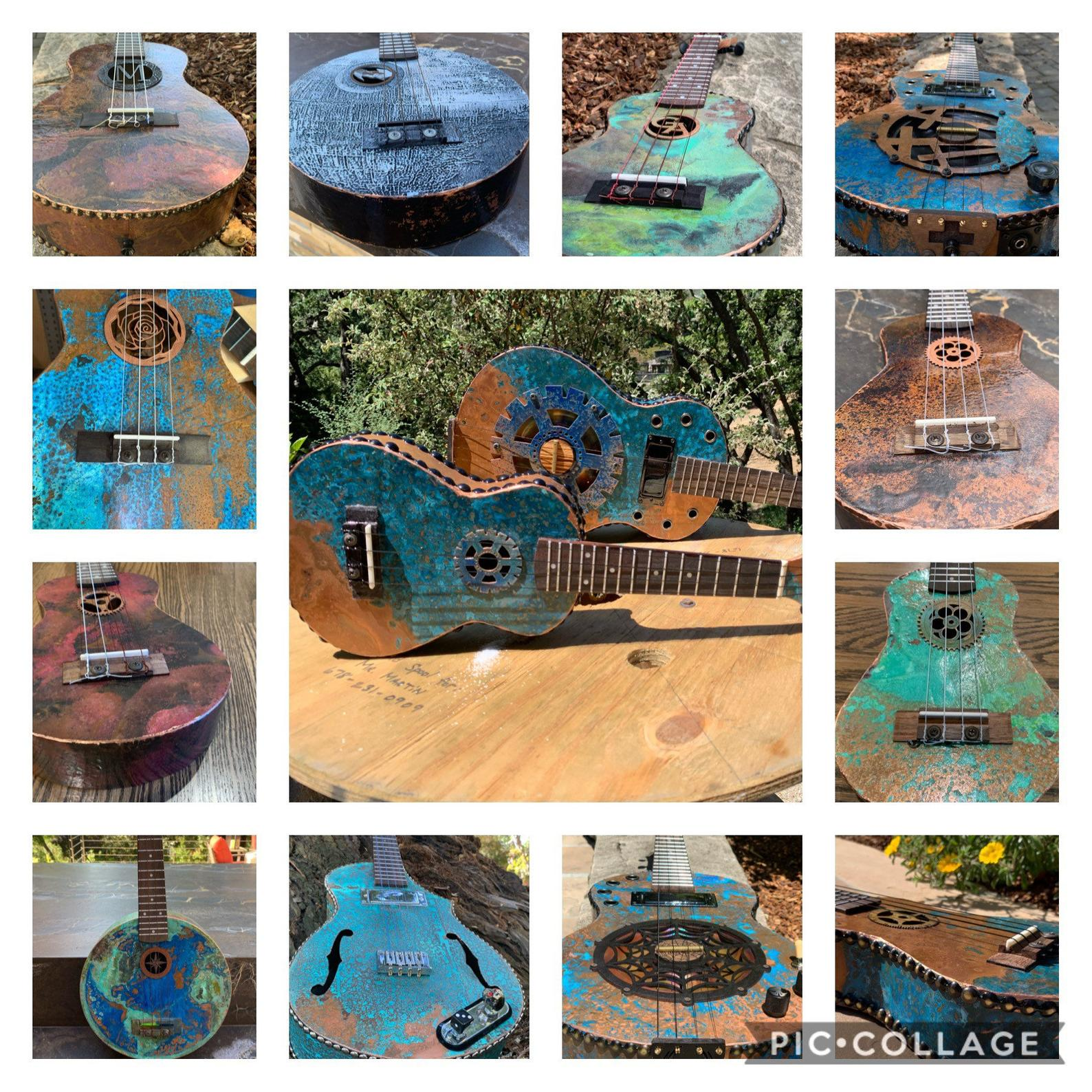 Custom Copper Ukulele by Gifter World