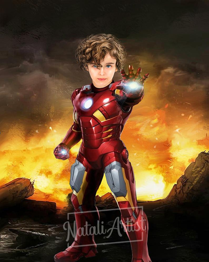 Custom Superhero Portrait by Gifter World