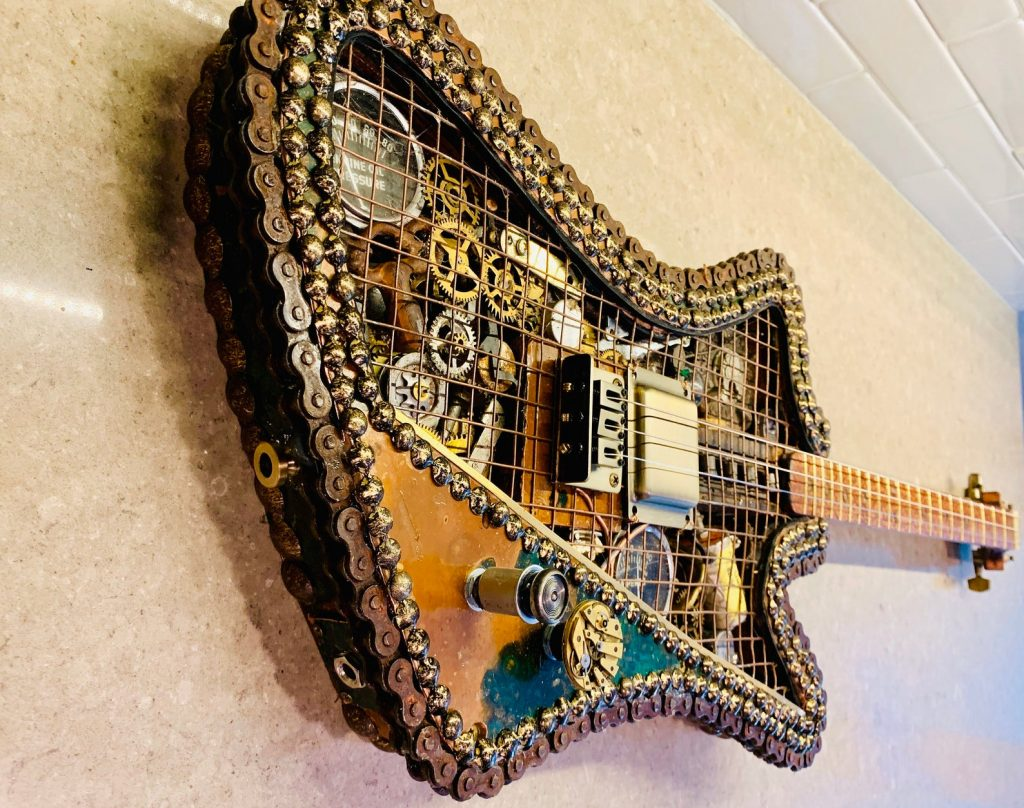 Steampunk Guitar and Unique Man Cave Gifts by Gifter World