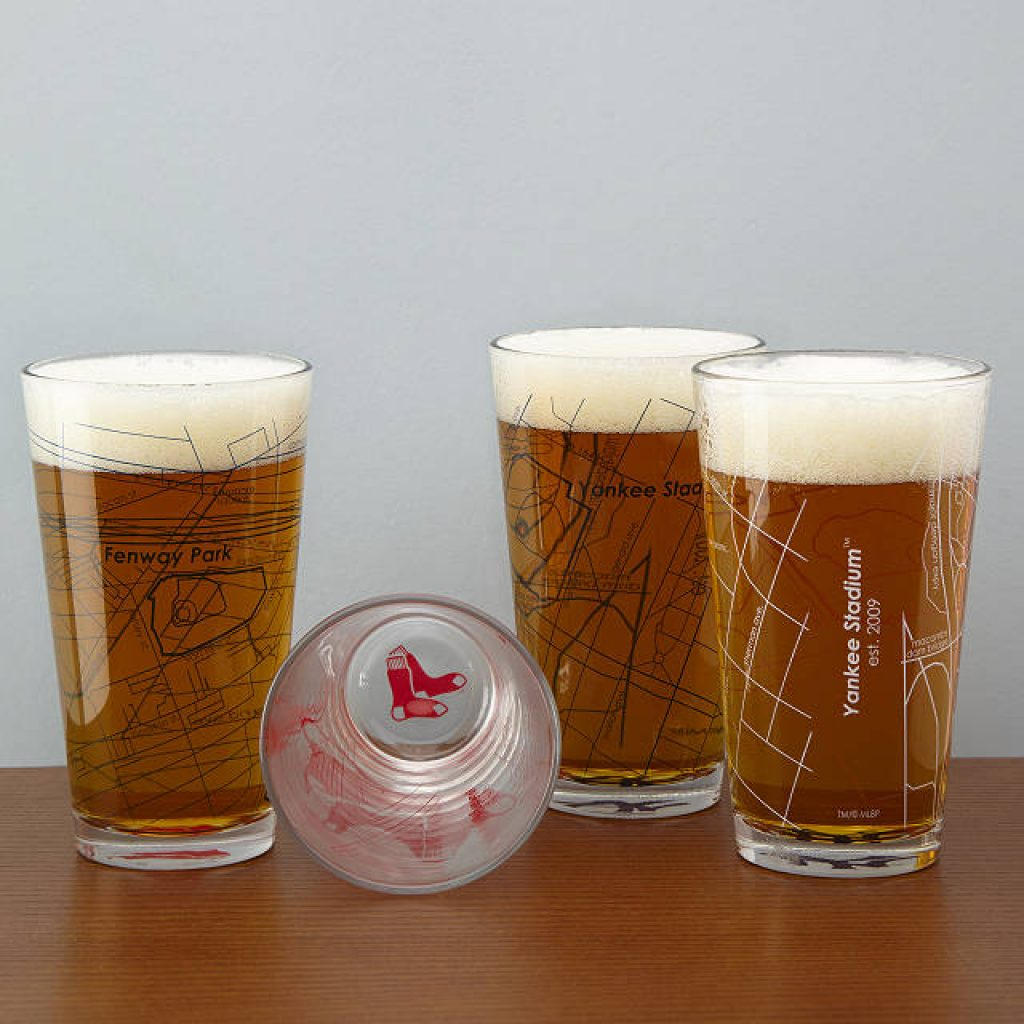 Baseball pint Glasses With Stadiums and Unique Gifts for Baseball Fans and Other Amazing Baseball Gifts by Gifter World