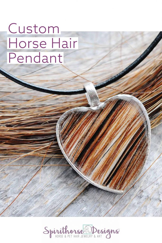 Custom Horse Hair Pendant and Unique Gifts for Horse Lovers and Equestrians by Gifter World