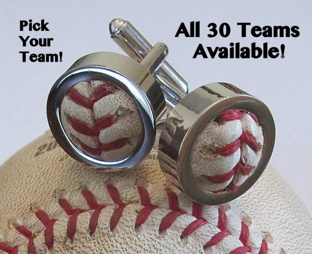 Game Used Baseball Cufflinks and Unique Gifts for Baseball Lovers and Other Awesome Baseball Gifts by Gifter World