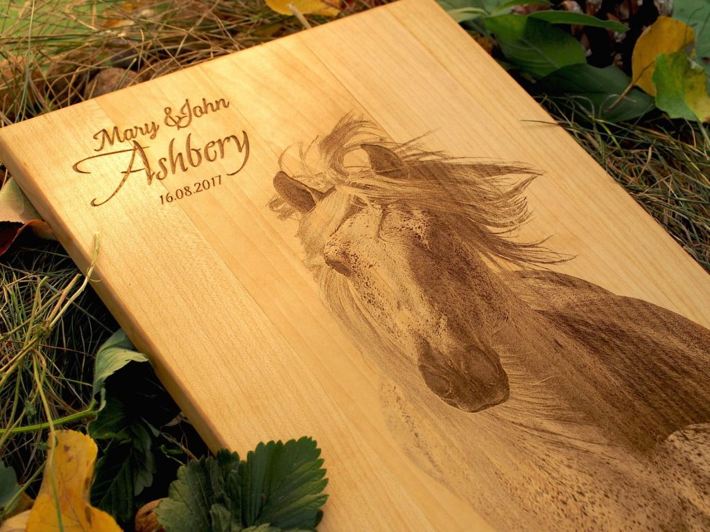 Personalized Horse Portrait Cutting Board and unique Horse Lover Gifts and Equestrian Gifts by Gifter World