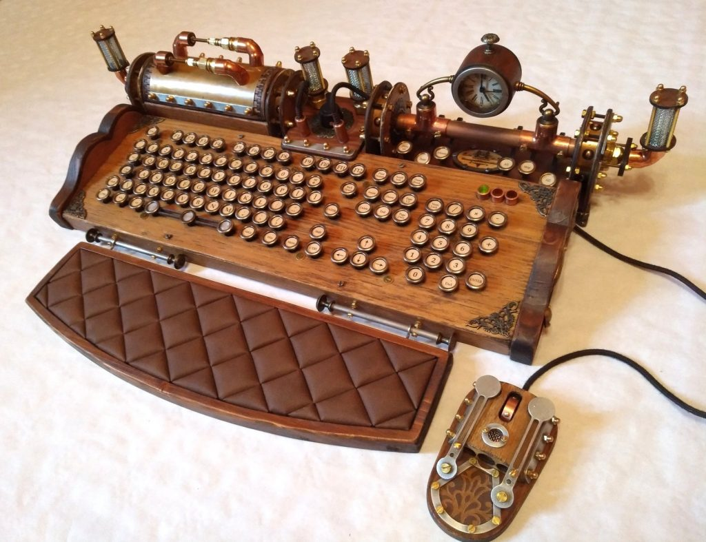 Steampunk Keyboard and The Best Gifts for Writers and the Best Gifts for Aspiring Writers by Gifter World
