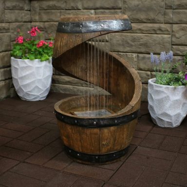 Whiskey Barrel Fountain by Gifter World