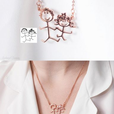 Children's Drawing Necklace by Gifter World