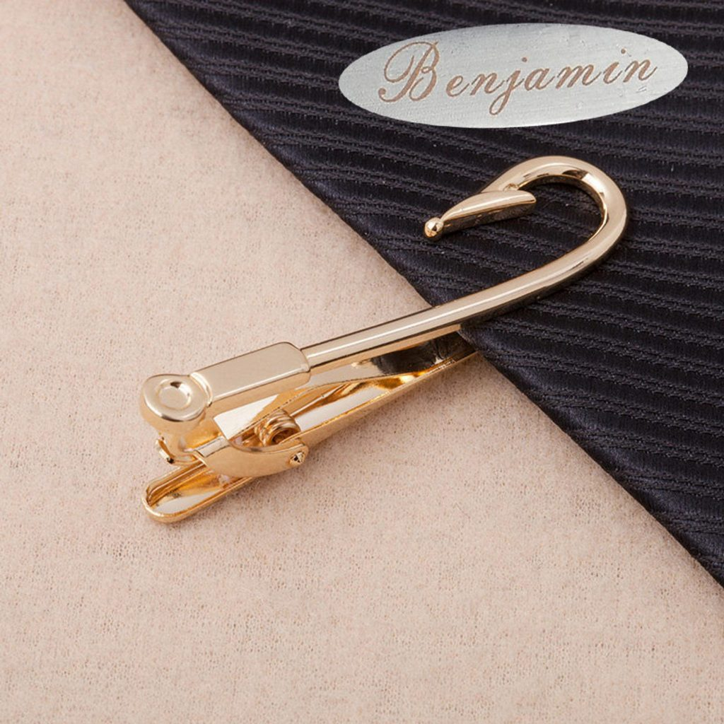 Fish Hook Tie Clip and Unique Gifts for Fishermen and Wearable Fishing Gifts by Gifter World