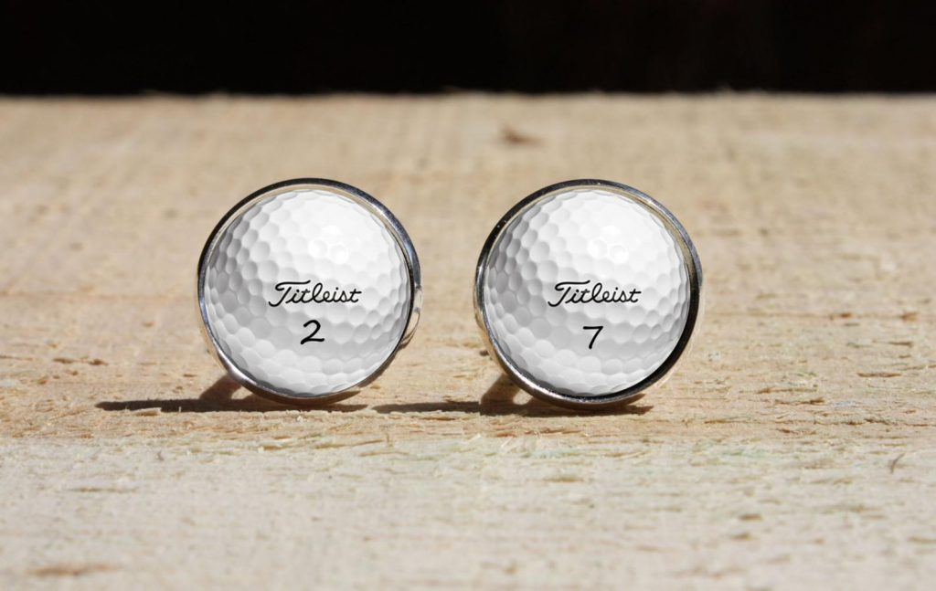 Golf Ball Cufflinks and the Best Gifts for Golfers Who Have Everything and Other Unique Golf Gifts by Gifter World
