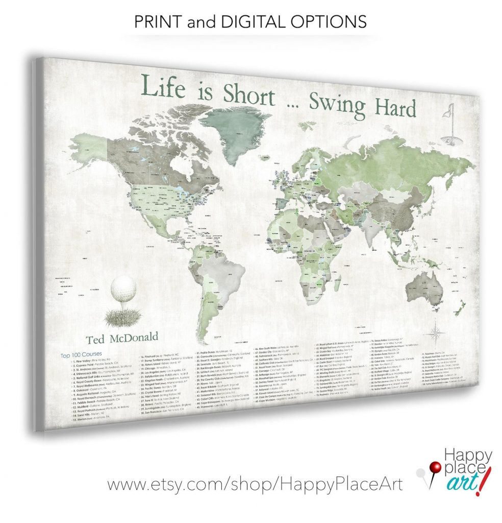 Golf Map and the Best Gifts for Golfers WHo Have Everything and Other Unique Golf Gifts by Gifter World