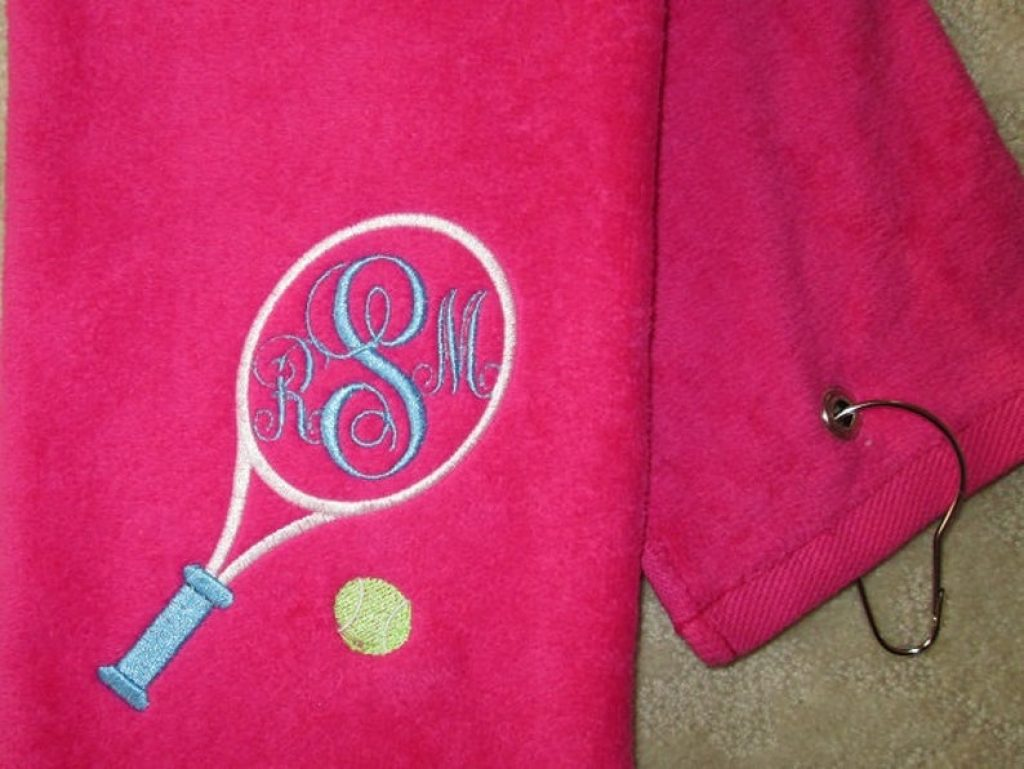 Monogrammed Tennis Towel and the Best Gifts for Tennis Players and Fans by Gifter World