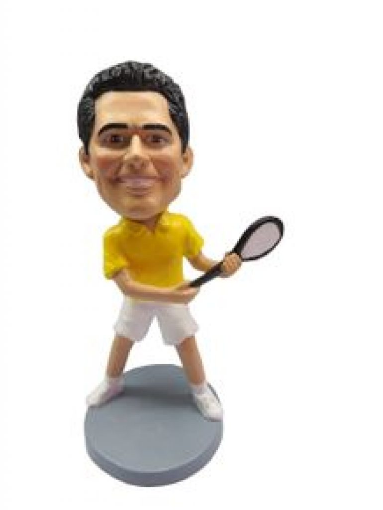 Tennis Bobble-Head and Unique Personalized Gifts for Tennis Players and Other Tennis Gifts by Gifter World