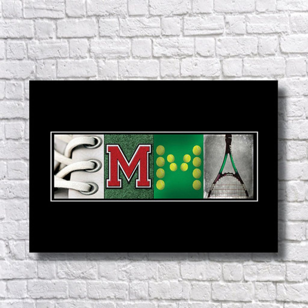 Tennis Name Art and The Best Gifts for Tennis Players and Other Tennis Gifts by Gifter World