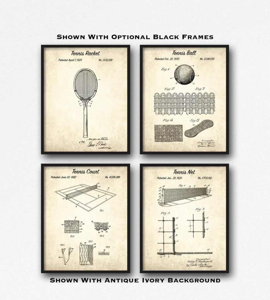 Tennis Patents and The Best Gifts for Tennis Players and Fans by Gifter World