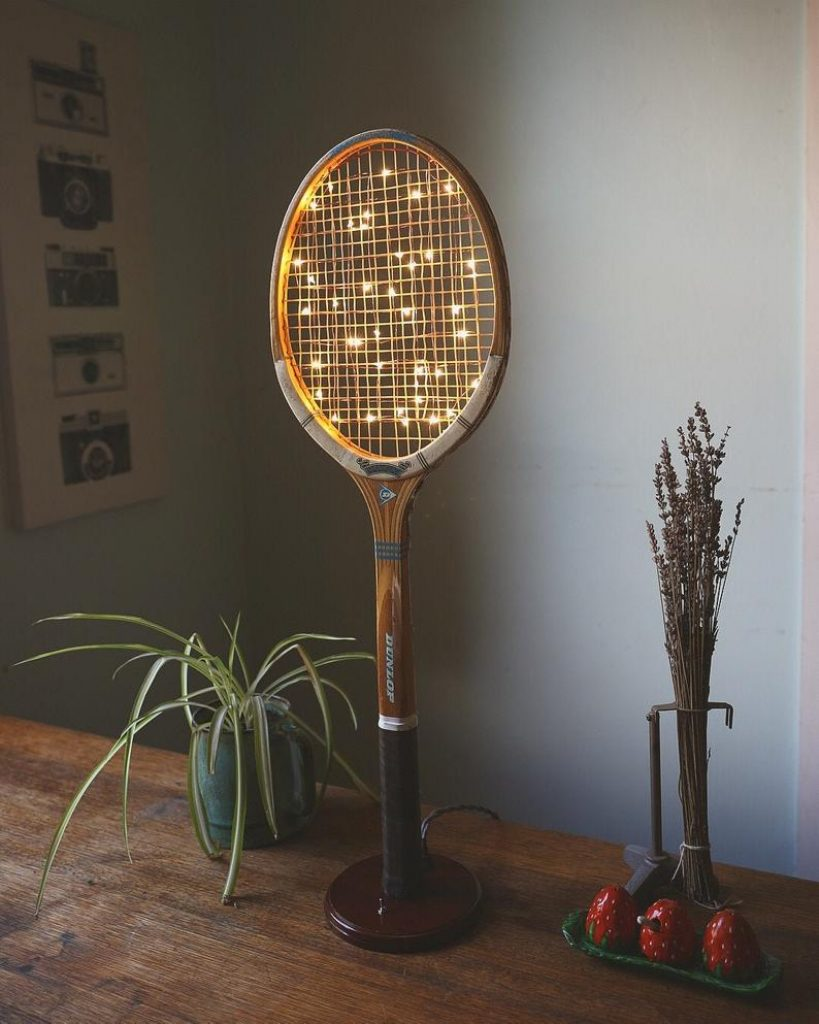 Vintage Tennis Racket Lamp and The Best Gifts for Tennis Players and Fans by Gifter World