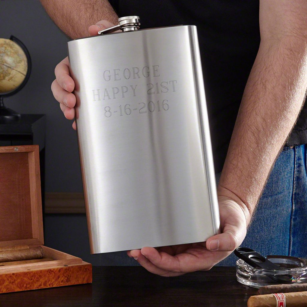 21st Birthday Giant Flask and the Best Gifts for 20 Something Guys by Gifter World
