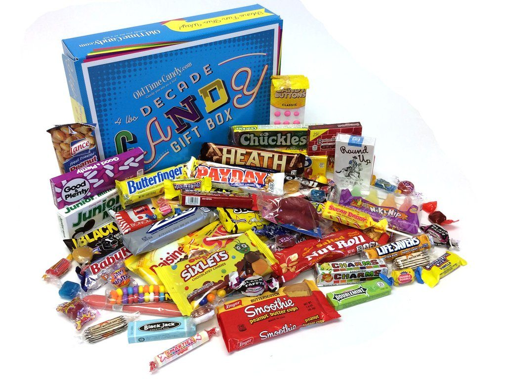 Decade Candy Box from the 1950s and the Best Gifts for 70-Year-Old Men by Gifter World
