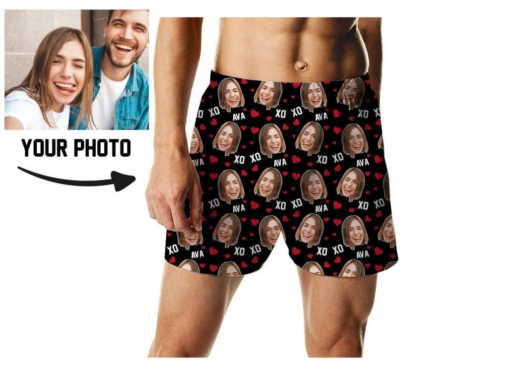 Face Boxers and Other Personalized Valentine's Day Gifts for Him by Gifter World