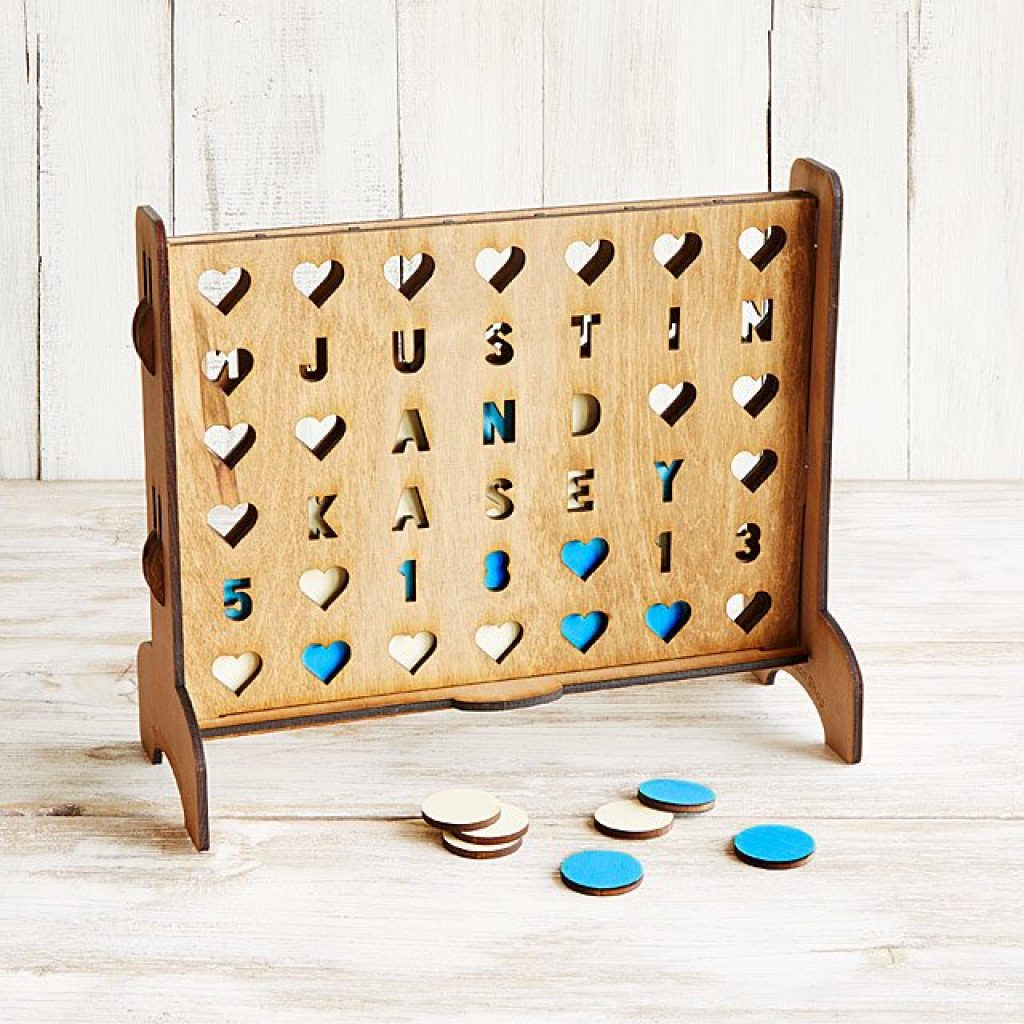 Hearts Connect Four and Fun 5th Anniversary Gift Ideas by Gifter World